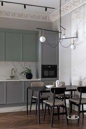 Дизайнерский ремонт квартиры в ЖК Садовые Кварталы | Фото №5 | Кухня-гостиная