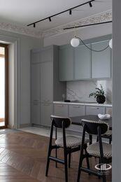 Дизайнерский ремонт квартиры в ЖК Садовые Кварталы | Фото №7 | Кухня-гостиная