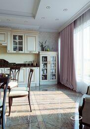 3D-визуализация квартиры в классическом стиле | №1