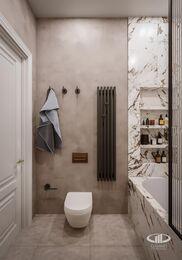Дизайн двухкомнатной квартиры в ЖК Сердце Столицы в смешанном стиле | Фото №15