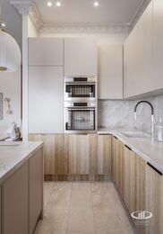 Дизайн двухкомнатной квартиры в ЖК Сердце Столицы в смешанном стиле | Фото №8