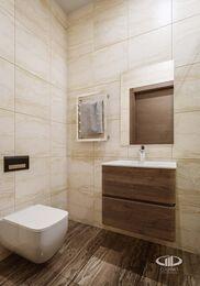 Дизайн интерьера трехкомнатной квартиры в ЖК Достояние современный стиль | 3d-визуализация №11