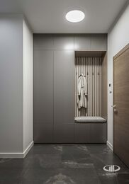 Дизайн интерьера трехкомнатной квартиры в ЖК Достояние современный стиль | 3d-визуализация №9
