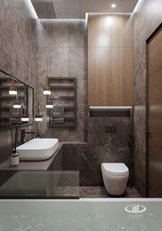 Дизайн интерьера евродвушки в ЖК Царская площадь | Ванная комната 3,8 кв.м. кв.м. | Фото №7
