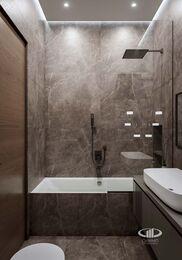 Дизайн интерьера евродвушки в ЖК Царская площадь | Ванная комната 3,8 кв.м. кв.м. | Фото №8
