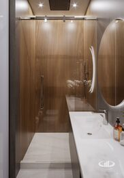 Дизайн интерьера квартиры в ЖК Город на Реке Тушино-2018 | Фото №22 | Санузел