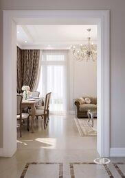 Дизайн интерьера квартиры в ЖК Life-Ботанический | Кухня гостиная | Фото №1