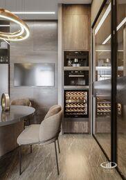 Современный дизайн квартиры в ЖК Сердце Столицы   Фото №3
