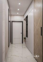 Современный интерьер квартиры в ЖК Достояние фото №11 | Прихожая