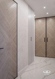Современный интерьер квартиры в ЖК Достояние фото №12 | Прихожая