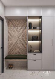 Современный интерьер квартиры в ЖК Достояние фото №14 | Прихожая