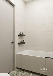 Современный интерьер квартиры в ЖК Достояние фото №18 | Санузел