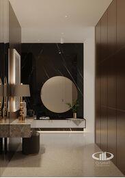 ЗD-визуализация дизайна интерьера квартиры в ЖК Садовые Кварталы в стиле современный минимализм | Фото №12