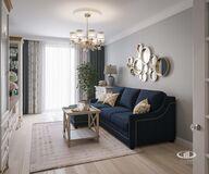 Дизайн интерьера квартиры в ЖК Марьино Град фото №5 | Гостиная