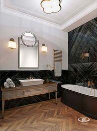 Дизайн интерьера 2-х комнатных апартаментов в МФК Balchug Viewpoint | 3d-визуализация №7