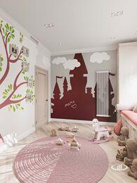 Дизайн интерьера дома в стиле Ар-Деко | Игровая комната | Визуализация №1