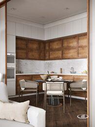 Дизайн интерьера 3-х комнатной квартиры в ЖК Лица | Современный стиль | 3d-визуализация №4