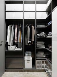 Дизайн квартиры в ЖК ЗИЛАРТ | 3d-визуализация №7   | Гардеробная в стиле Лофт
