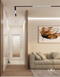 Дизайн интерьера квартиры в современном стиле ЖК Счастье в Тушино | 3d-визуализация №2