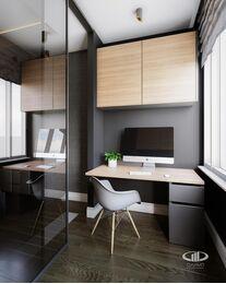 Дизайн интерьера четырехкомнатной квартиры в ЖК Розмарин стиль Ар-Деко | Фото №9