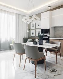 3D-визуализация дизайна интерьера квартиры в современном стиле | ЖК RedSide фото №6