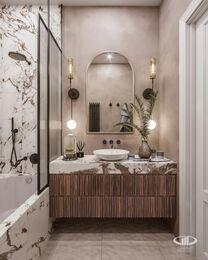 Дизайн двухкомнатной квартиры в ЖК Сердце Столицы в смешанном стиле | Фото №14