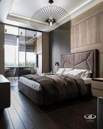 Дизайн интерьера четырехкомнатной квартиры в ЖК Розмарин стиль Ар-Деко | Фото №6