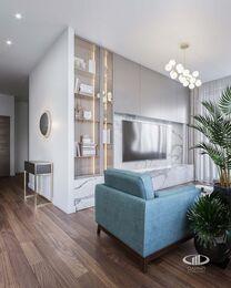 Дизайн интерьера трехкомнатной квартиры в ЖК Достояние современный стиль | 3d-визуализация №1