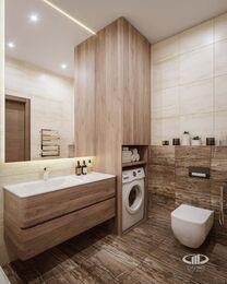 Дизайн интерьера трехкомнатной квартиры в ЖК Достояние современный стиль | 3d-визуализация №13