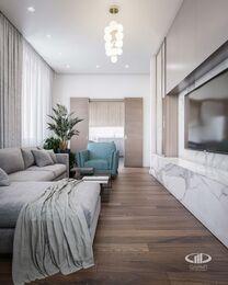 Дизайн интерьера трехкомнатной квартиры в ЖК Достояние современный стиль | 3d-визуализация №2