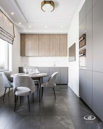 Дизайн интерьера трехкомнатной квартиры в ЖК Достояние современный стиль | 3d-визуализация №5