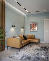 Дизайн интерьера трехкомнатной квары в ЖК Green park | Кабинет фото №3