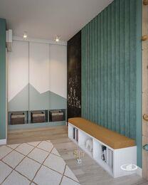 Дизайн интерьера трехкомнатной квары в ЖК Green park | Детская комната фото №6