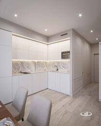 Дизайн интерьера квартиры-студии в ЖК Династия   Фото №2
