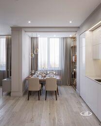 Дизайн интерьера квартиры-студии в ЖК Династия   Фото №3