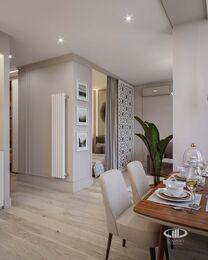 Дизайн интерьера квартиры-студии в ЖК Династия   Фото №5
