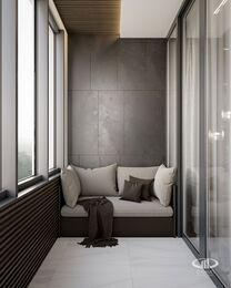 Дизайн интерьера квартиры в ЖК Город на Реке Тушино-2018 | Фото №14 | Лоджия