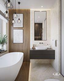 Дизайн интерьера квартиры в ЖК Город на Реке Тушино-2018 | Фото №27 | Ванная комната