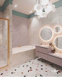 Дизайн интерьера дома в стиле Ар-Деко | Детский С/У | Визуализация №1