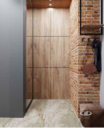 Дизайн квартиры в ЖК ЗИЛАРТ | 3d-визуализация №12  | Прихожая в стиле Лофт
