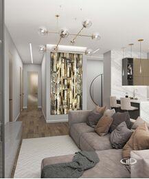 Дизайн 3-комнатной квартиры в ЖК Сити Парк | Дизайн-проект квартиры City Park | Фото №3