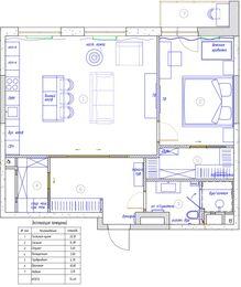 Дизайнерский ремонт квартиры в ЖК Сердце Столицы | Планировка квартиры