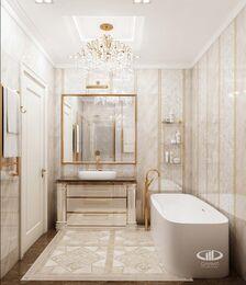 Дизайн евротрешки в ЖК Долина Сетунь   Ванная комната в классическом стиле