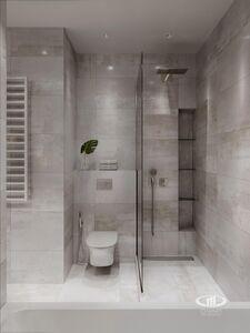 Ванная комната | 3D визуализация в стиле минимализм