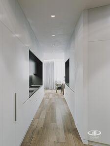 Холл | 3D визуализация в стиле минимализм