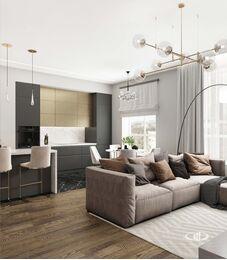 Дизайн 3-комнатной квартиры в ЖК Сити Парк | Дизайн-проект квартиры City Park | Фото №2