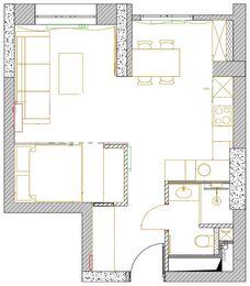 Дизайн интерьера квартиры-студии в ЖК Династия   Планировка