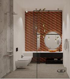 ЗD-визуализация дизайна интерьера квартиры в ЖК Садовые Кварталы в стиле современный минимализм | Фото №36
