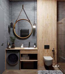 Дизайн квартиры в ЖК ЗИЛАРТ  | Санузел в стиле Лофт