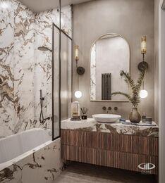 Дизайн двухкомнатной квартиры в ЖК Сердце Столицы в смешанном стиле | Фото №13